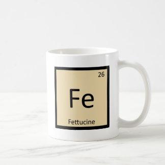 Fe - Fettucineのパスタ化学周期表 コーヒーマグカップ