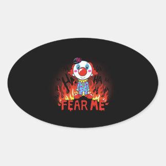 Fear Me Clown 楕円形シール