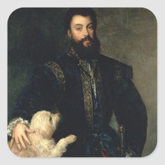 、Federigo Gonzaga Mantua、c.1525-30 (油oの公爵 スクエアシール