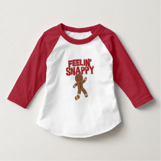 Feelinのてきぱきとしているジンジャーブレッドマン Tシャツ