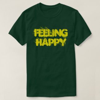 Feeling Happy Men's Basic Dark T-Shirt Tシャツ