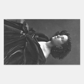 Félix Nadar 1864年著サラ・ベルナールフランスのな女優 長方形シール