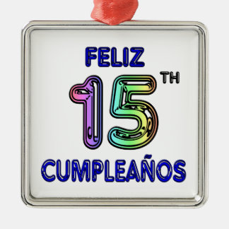 Feliz第15 Cumpleaños メタルオーナメント