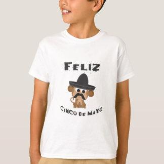 Feliz Cinco Deメーヨー猿 Tシャツ
