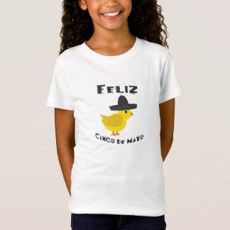 Feliz Cinco deメーヨー-ひよこ Tシャツ