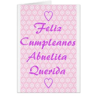 Feliz Cumpleanos Abuelita Querida カード