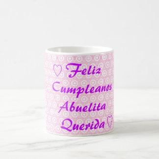 Feliz Cumpleanos Abuelita Querida コーヒーマグカップ