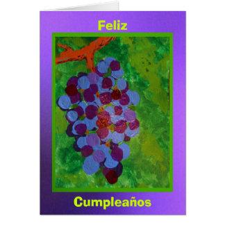 Feliz Cumpleaños - Uvasの一致 カード