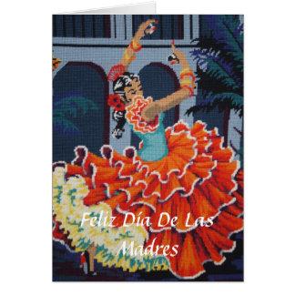 Feliz Diaa De Las Madres Cardフラメンコのダンサー カード