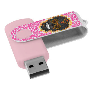 Feliz Muertos -シックな砂糖のスカル USBフラッシュドライブ