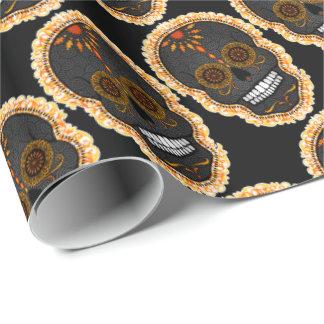 Feliz Muertos -幸せな砂糖のスカルの包装紙 ラッピングペーパー