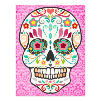 Feliz Muertos -幸せな砂糖のスカルの郵便はがき ポストカード