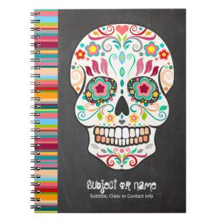 Feliz Muertos -砂糖のスカルのカスタムのノート ノートブック