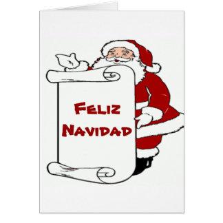 Feliz Navidadのクリスマスのサンタカード カード