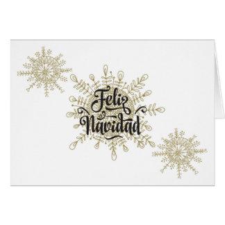 Feliz Navidadのスペイン人のクリスマス カード