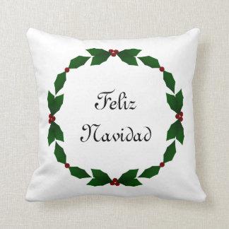 Feliz Navidadのヒイラギの休日の枕 クッション
