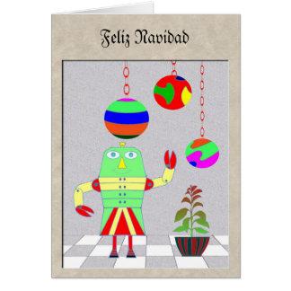 Feliz Navidadのロボット カード