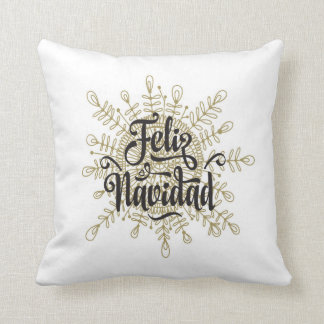 Feliz Navidadの雪片のスペインのなクリスマスの枕 クッション