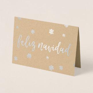 Feliz Navidadの雪片 箔カード
