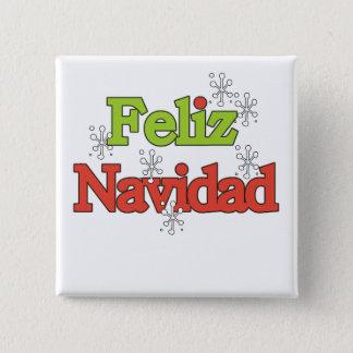 Feliz NavidadのTシャツおよびギフト 5.1cm 正方形バッジ