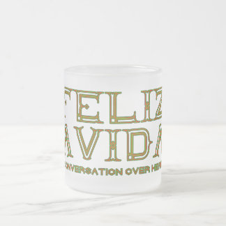 FELIZ NAVIDADは会話をとにかくこちらによくします フロストグラスマグカップ