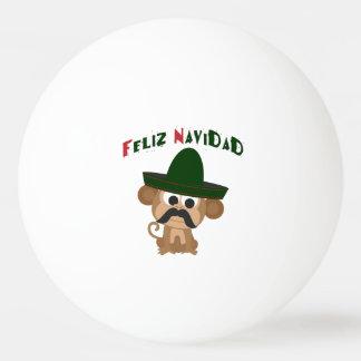 Feliz Navidad! かわいい猿 卓球ボール