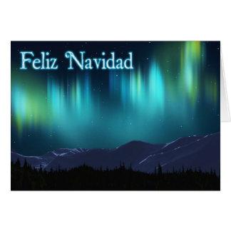 Feliz Navidad -オーロラBorealis カード