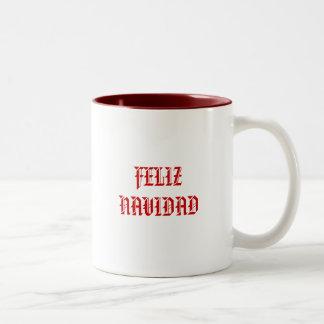FELIZ NAVIDAD ツートーンマグカップ
