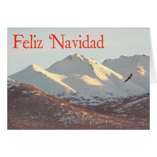 Feliz Navidad -冬のワシ カード