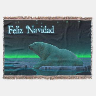 Feliz Navidad -氷の端の白くま スローブランケット