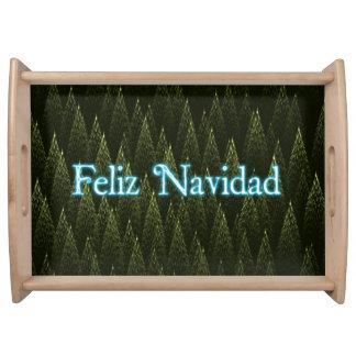 Feliz Navidad -針葉樹 トレー