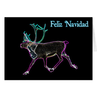 Feliz Navidad -電気カリブー カード