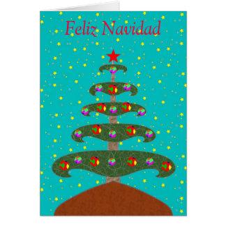 Feliz Navidad Arbol 1 カード