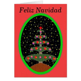 Feliz Navidad Arbol 2 カード
