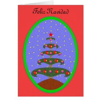 Feliz Navidad Arbol 3 カード