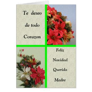 Feliz Navidad Querida Madre カード