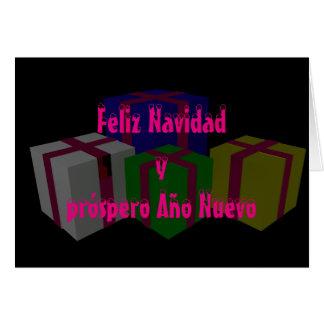 Feliz Navidad yのpróspero Año Nuevo カード