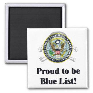 FEMAのキャンプの青いリストの磁石 マグネット