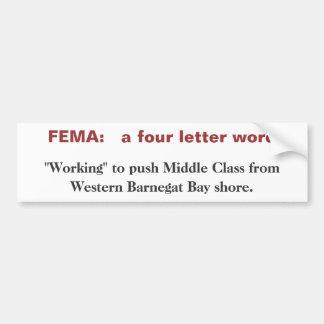 FEMA: 4つの手紙の単語 バンパーステッカー