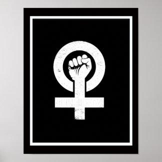 FEMINISTA --  白 ポスター