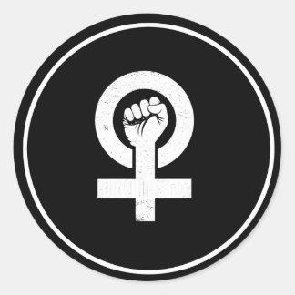 FEMINISTA --  白 ラウンドシール