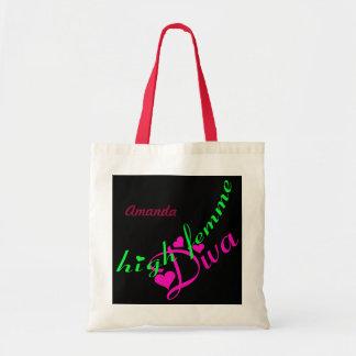 Femmeの高い花型女性歌手のカスタマイズ可能なバッグ トートバッグ