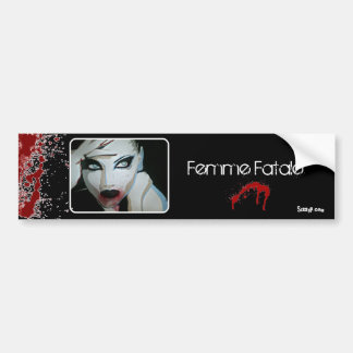 「Femme Fatale」のバンパーステッカー バンパーステッカー