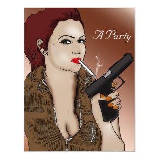 Femme Fatale -喫煙および銃 カード