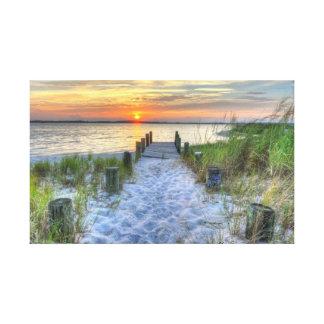 Fenwickの島の日没 キャンバスプリント