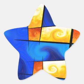Fergussos V1 -デジタル抽象芸術 星シール