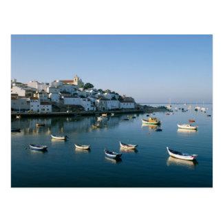 Ferragudo、アルガルヴェ地方、ポルトガル2の漁村 ポストカード
