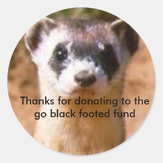ferret12の行の黒fへの寄付への感謝… ラウンドシール