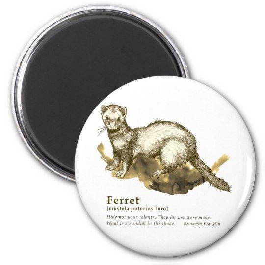 Ferret - sepia マグネット