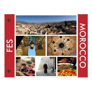 fesのモロッコ場面 ポストカード
